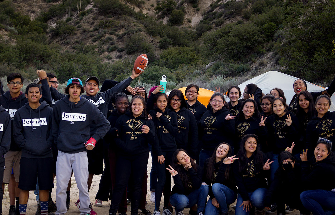 South Central youth enjoy a camping trip at the beach