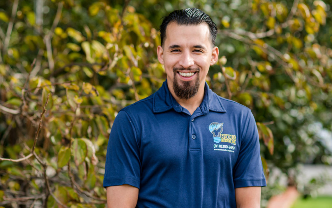 Ismael Valadez, owner of Nexus Electric, Inc.