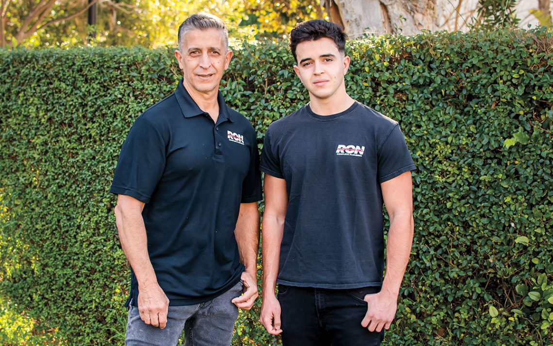 Ron and Neev Tal, owners of R P Service, Inc.