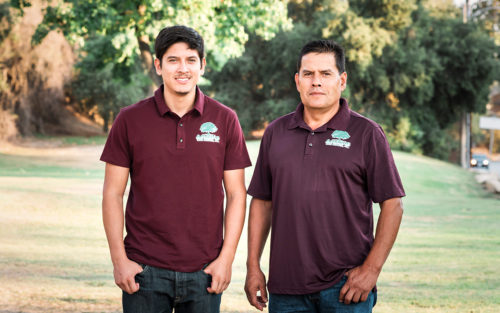 Owner Leo Perez with his son Cesar of Amazon Tree Service.