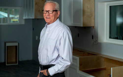 General contractor David Keeton standing in a kitchen he is remodeling