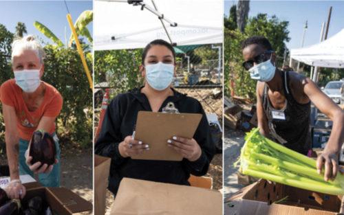 Volunteers at LA-Más