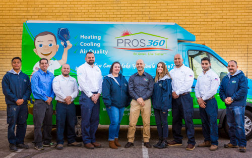 Nissim Maimon, owner of Pros 360, with his team
